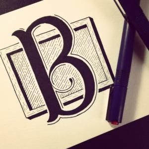 letra b lettering alfabeto em ingles