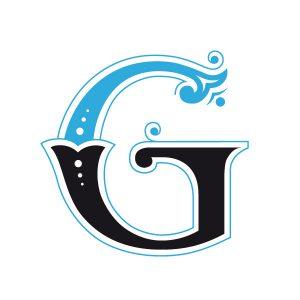 lettering letra g alfabeto em ingles