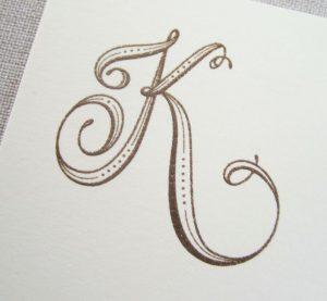 lettering letra k alfabeto em ingles