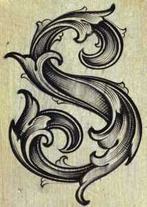 lettering letra s alfabeto em ingles