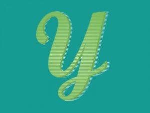 lettering letra y alfabeto em ingles