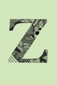 lettering letra z alfabeto em ingles