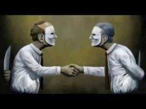 falso amigo mascara faca desenho famoso