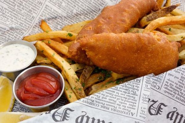 how to make newspaper cones for fish and chips