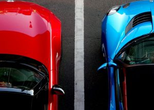 which e that blue car